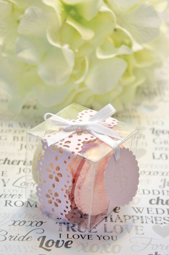 Shower Favors Macaron Box Favor Boxes Set by IndayaniBakedGoods, $178.50