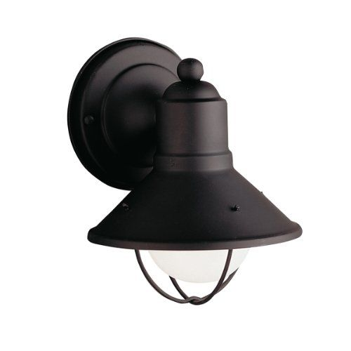 Kichler 9021 transitional 1 light outdoor wall sconce from the seaside collection