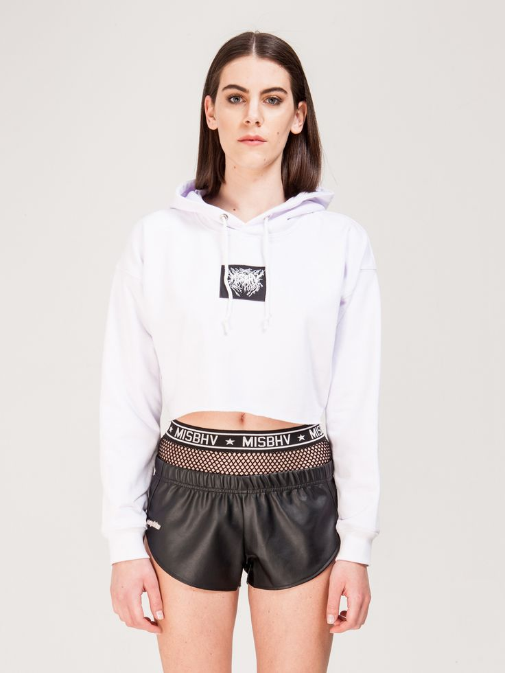 MISBHV , Cropped Sweatshirt Beyaz #shopigo#shopigono17#shoponline#womenswear