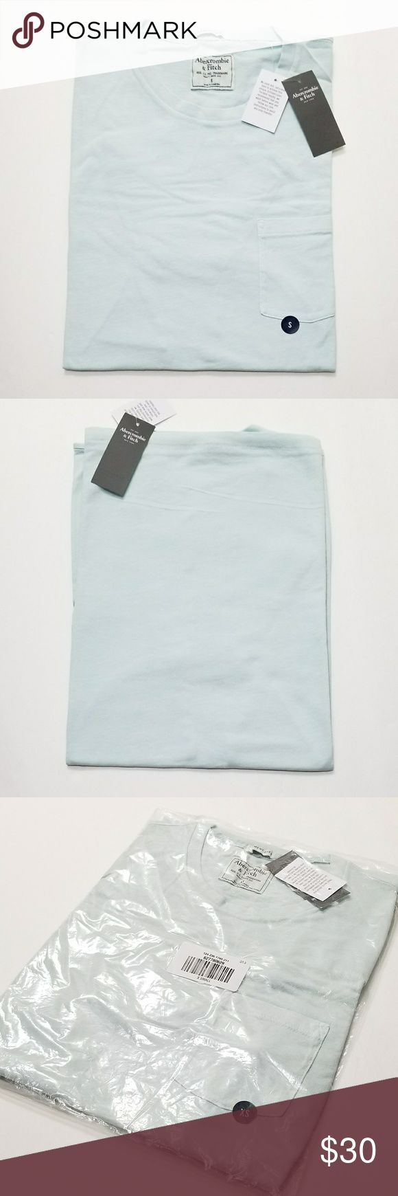 👕Abercrombie And Fitch Light Blue T-shirt Perfect Valentine's Gift Brand New Light Blue Mens T-shirt Carry 3 different Sizes XS, S and XL only. No flaws All Sales Final. Raise Question Before Purchase. Price is for one piece. Please bundle or reasonable offer. Free random gift! Fast Shipping! Abercrombie & Fitch Shirts Tees - Short Sleeve