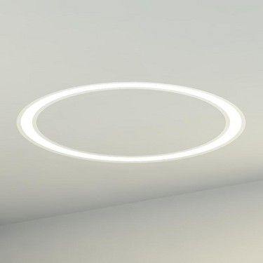 Winona Lighting | Decorative | Linear Recessed.  Available in 8, 12, 16 and 24 foot diameters.   Lamped with 21W T5 mini bi pin fluorescents.  Standard finish semigloss white.  Custom paint finishes available.