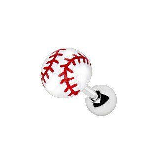 316L Stainless Steel Cartilage Earring with UV Acrylic Baseball Stud