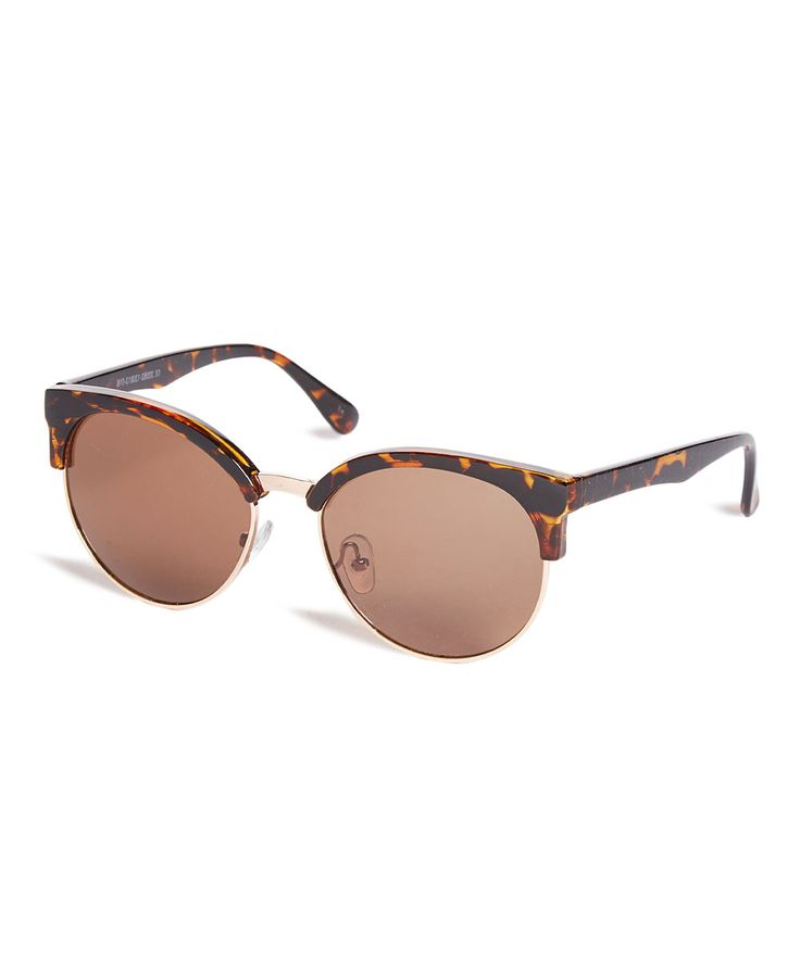 Brown Tortoise Browline Sunglasses