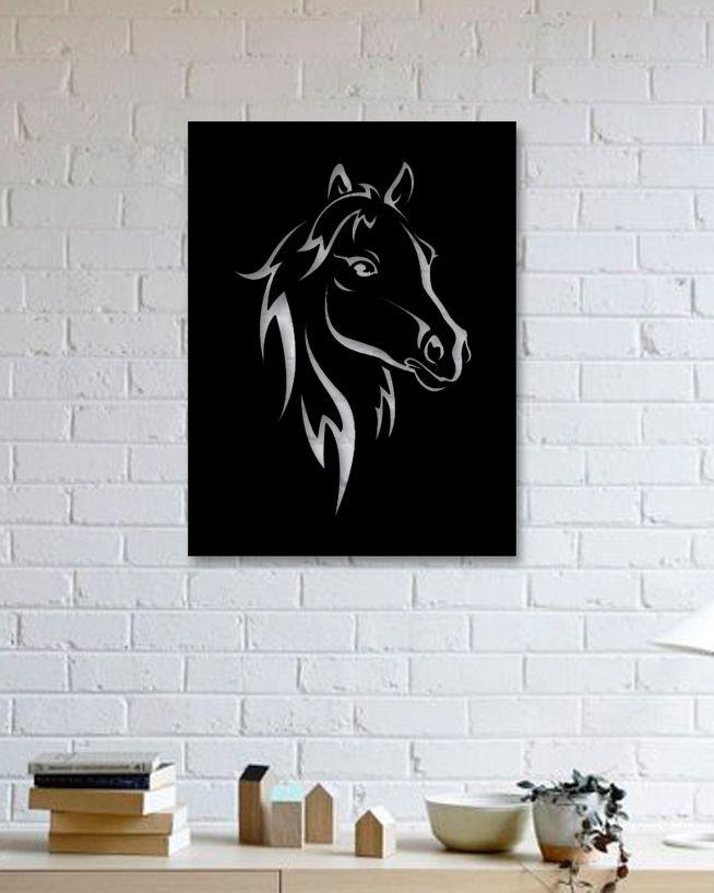At- Metal Tablo Horse