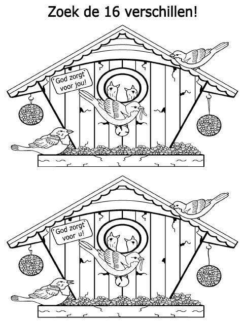 Placemat Kerst Kleurplaat God Zorgt Voor Jou Zoek De Verschillen Bijbel