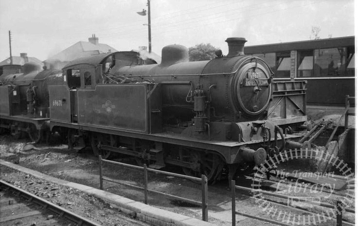 British Railways Steam locomotive 69671 at Enfield Town Shed in 1960