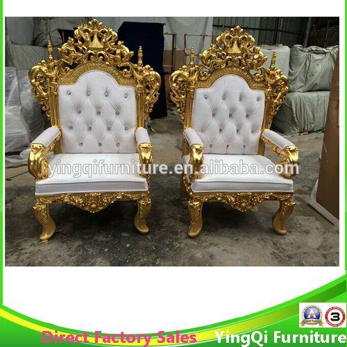 Français Style Royal trône roi chaises pour hôtel Halls et de mariage