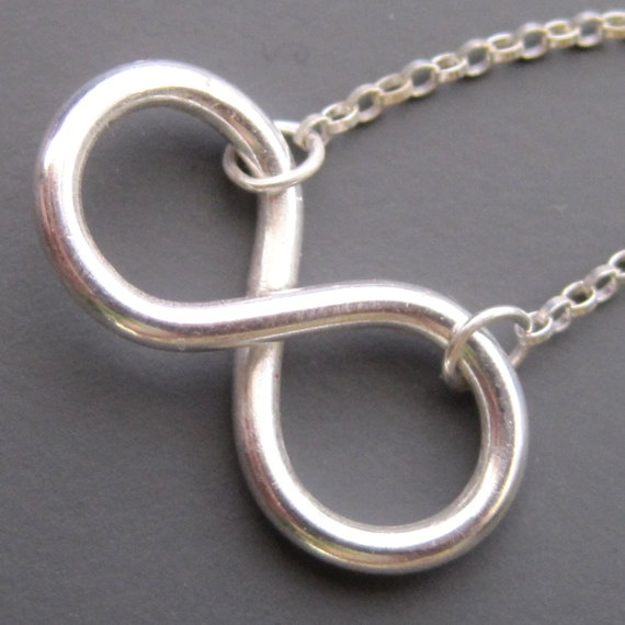 Infinity Necklace by sudlow on Etsy, $36.00