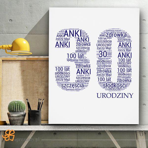 Każdy kto lubi udane niespodzianki prezentowe powinien zdecydować się na obraz ze słów na 30 #urodziny!  http://bit.ly/1OchZ1u
