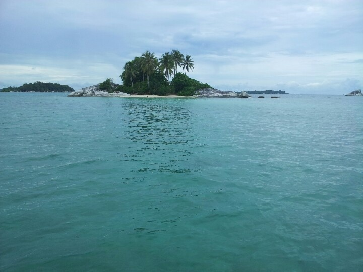 Beautiful scenery from the boat while going to the small islands