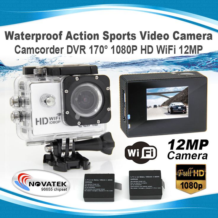 Waterproof Action Sports Video Camera Camcorder DVR 170° 1080P HD WiFi 1.5 LCD