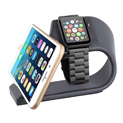 Apple Watch Stand And Cell Phone Stand 2 in1,Mortree Iwatch Charging Stand,Iphone Docking Station, Aluminum Alloy Platform Holder Charge Dock For Apple Watch And Iphone All Model(Black Metal Stand) #Apple #Watch #Stand #Cell #Phone #in,Mortree #Iwatch #Charging #Stand,Iphone #Docking #Station, #Aluminum #Alloy #Platform #Holder #Charge #Dock #Iphone #Model(Black #Metal #Stand)
