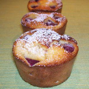 Légèreté & Gourmandises: Muffins aux amandes et aux framboises (3 PP)