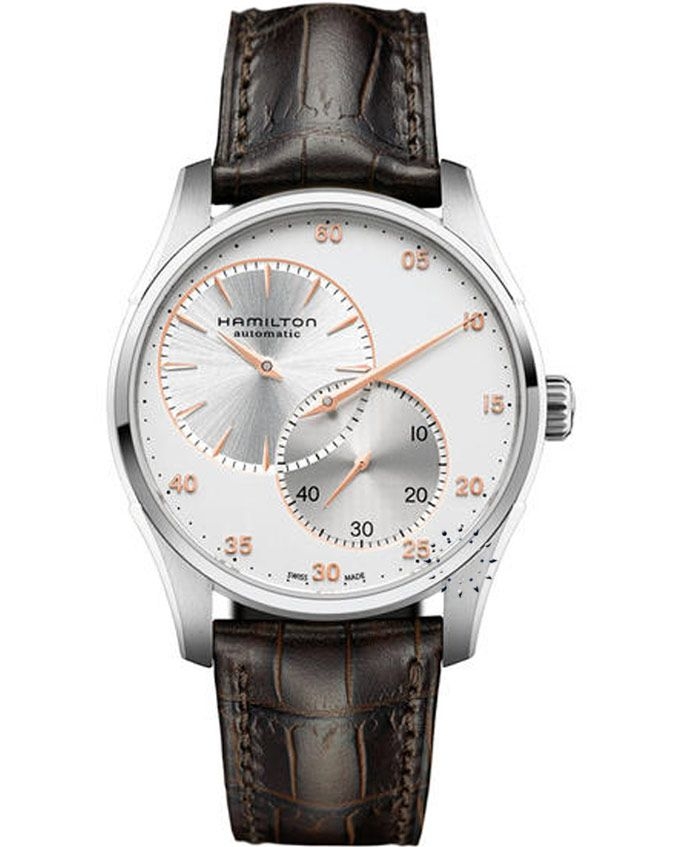 HAMILTON Jazzmaster Auto Regulator Brown Leather Strap Μοντέλο: H42615553 Η τιμή μας: 896€ http://www.oroloi.gr/product_info.php?products_id=37957