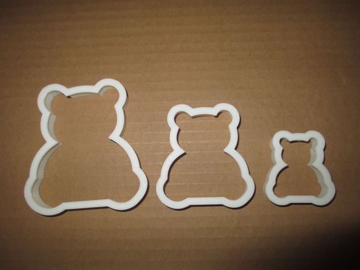 Details about Teddy Bear Cookie Cutter Biscuit Dough ...