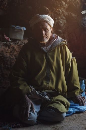 Berber man in his home, Morocco