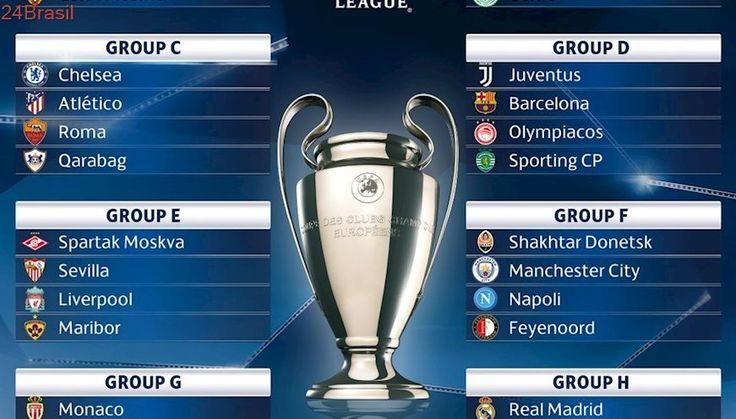 Sorteio define grupo da Liga dos Campeões