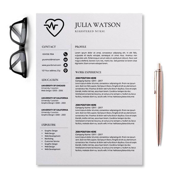 Professional Resume Template Nurse Cv Template Word Resume Etsy Nursing Resume Template Job Resume Template Resume Template Professional