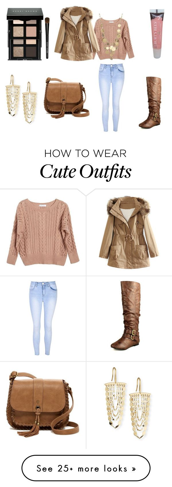 """Cute Weekend Outfit"" by holly32196 on Polyvore featuring Burt's Bees, Bobbi Brown Cosmetics, Glamorous, Ryan Roche, WithChic, Nature Breeze, T-shirt & Jeans, Lana and Kenneth Cole"