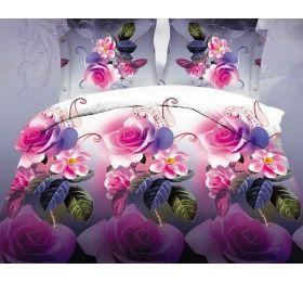 Pościel 3D 160 x 200 cm. Róże KOD-356-01