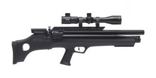 The Indy The FX Indy is one of the most dynamic air rifles to be developed. The Indy is based on the new Hybrid Bullpup platform with the integration of the FX self-contained compression pump system. This charging unit allows the gun to be filled while in the field. The result is a compact self-contained rifle that excels as a hunting and field rifle. The FX Indy can also be fitted with the extreme arrow shooting system for the ultimate in Flexibility for small or large game (The Indy…