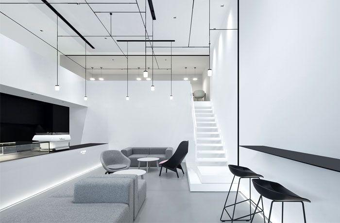 Modern And Minimalist Style In Dessert Shop By Dc Design Design Structure Design Shop Interior Design