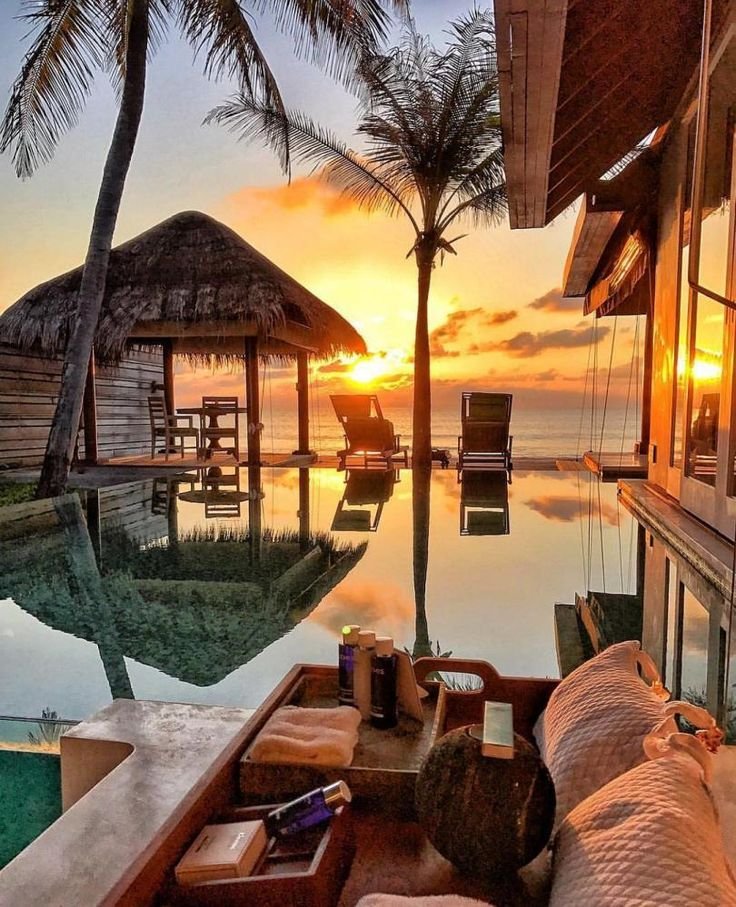 Sunset in Maldives by @travel_a_little_luxe
