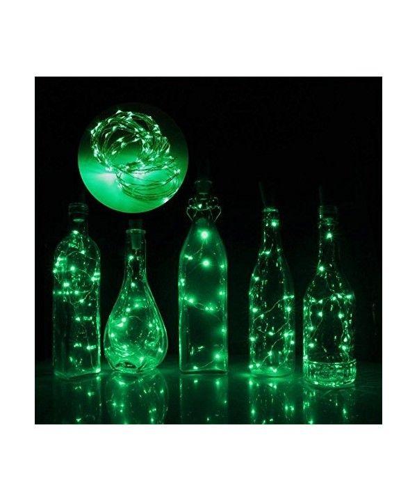 6pcs 10 LED Solar Cork Wine Bottle Fairy Light With 1M Copper Wire Shape Bar for