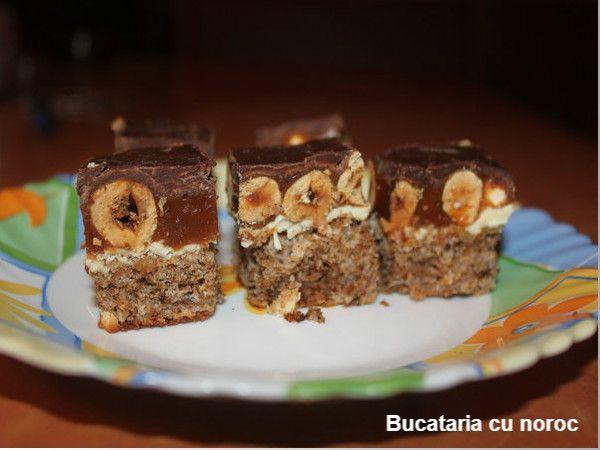 Bucataria cu noroc -  Prajitura snickers