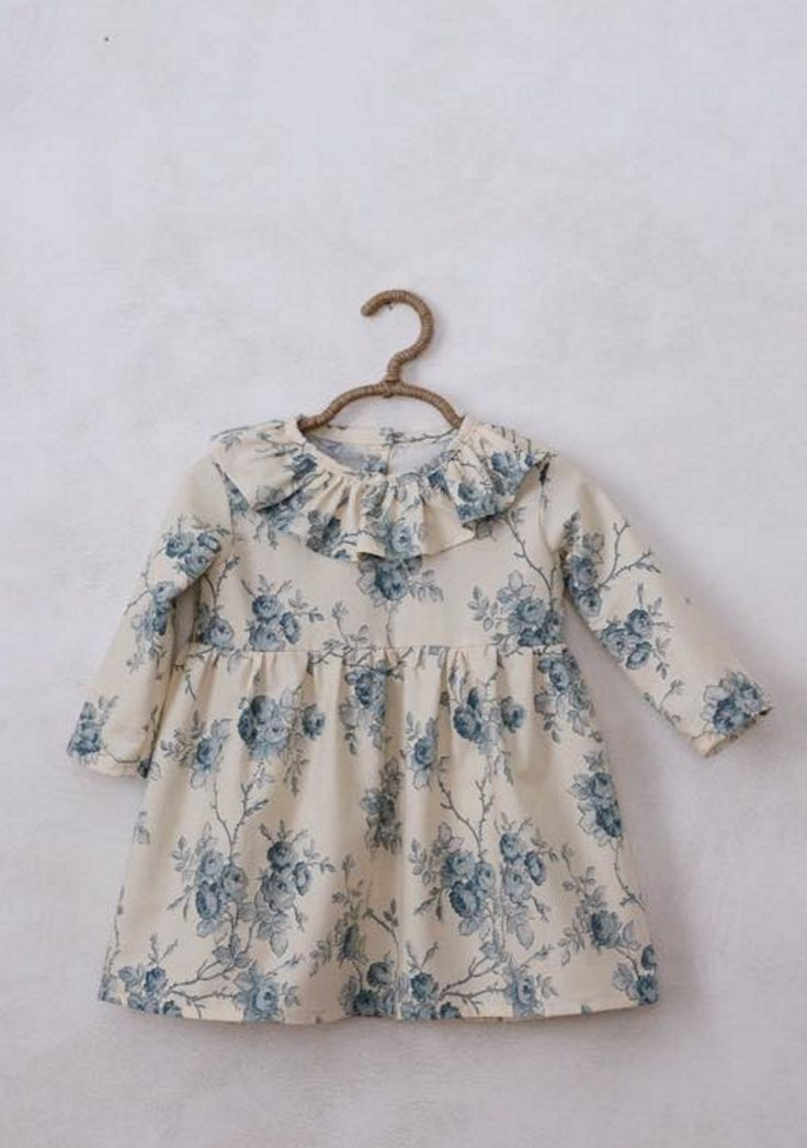 Handmade Blue Floral Dress | SweetHannahBDesigns on Etsy