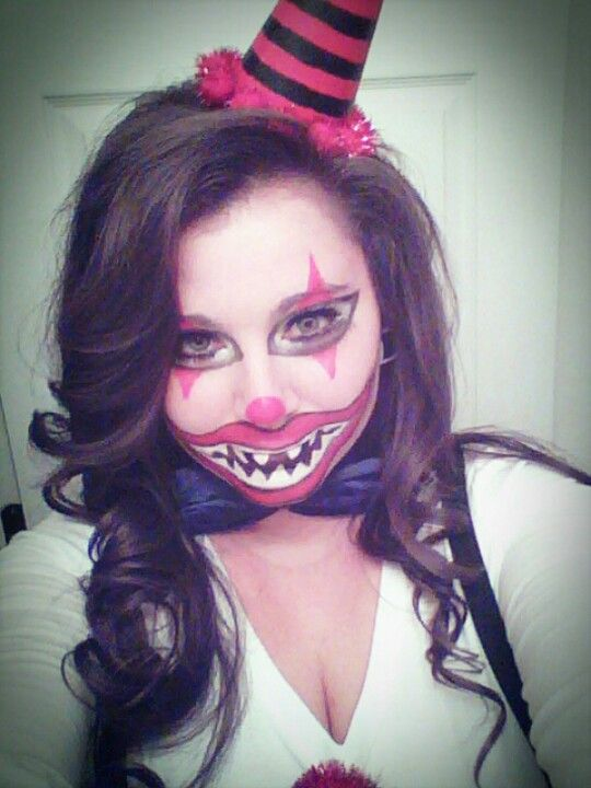 Last Year S Homemade Clown Costume Makeup Face Paint