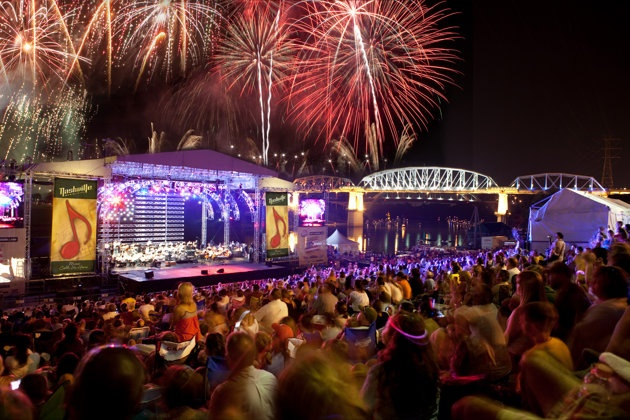4th of July in Nashville (fireworks choreographed to live music from the Nashville Symphony)