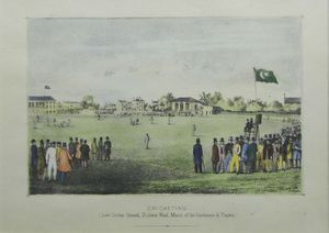 Cricketing (Lord Cricket Ground, St. John's Wood, Match of Gentlemen & Players) by R.S. Groom, Wilkinson & Co.