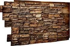 """48""""W x 25""""H x 1 1/2""""D Stacked Endurathane Faux Stone Siding Panel, Geneva"""