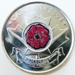 The Canadian Poppy Quarter for Remembrance Day