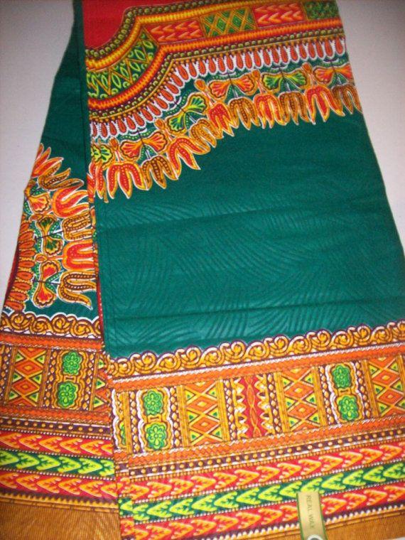 Green color dashiki fabric wholesale/ Dashiki by tambocollection, $39.00