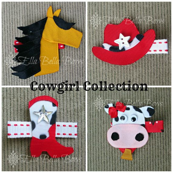 Cowgirl Collection Cowgirl Boot and Hat Horse by EllaBellaBowsWI, $22.00  #EllaBellaBows #Cowgirl