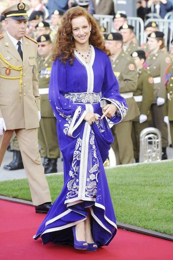 Princess lala Salma in caftan