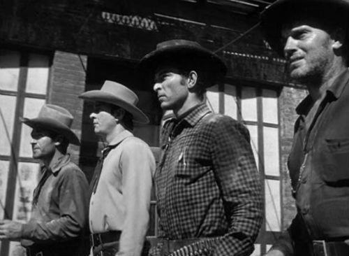 """""""High Noon"""" bad guys, Sheb Wooley, Ian McDonald, Lee Van Cleef and Robert J. Wilke"""