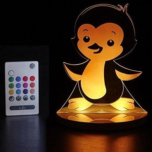 Veilleuse Led Multicouleurs Pinguin avec télécommande - Castello | Jeux et Jouets