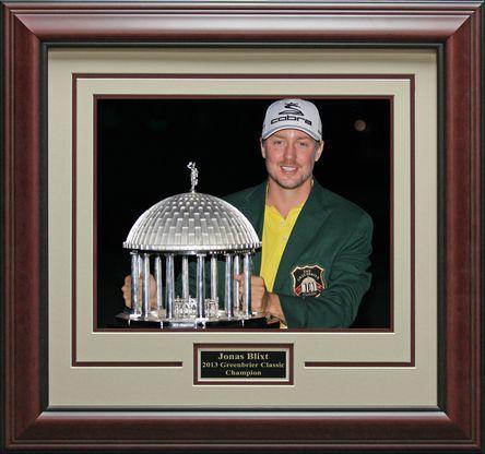 Jonas Blixt 2013 Greenbrier Classic Champion Photo framed