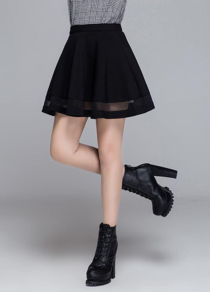 Fashion Grid Design women skirt elastic faldas ladies midi skirt Sexy Girls mini Pleated skirts saias Korea clothes - free shipping worldwide