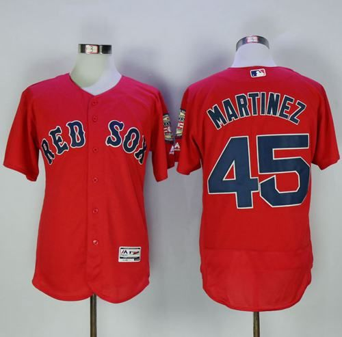 4c5000f91 ... Grey Red Red Sox 45 Pedro Martinez Red Flexbase Authentic Collection  Stitched MLB Jersey .