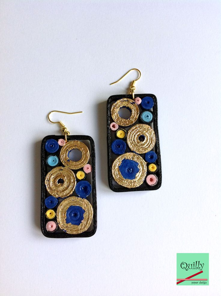 "Earrings ""Frammenti_03"" a paper jewel by QuillyPaperDesign"