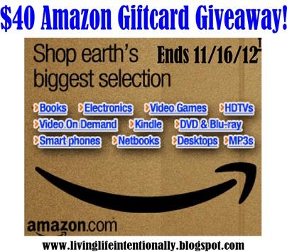 $40 Amazon giveaway!!