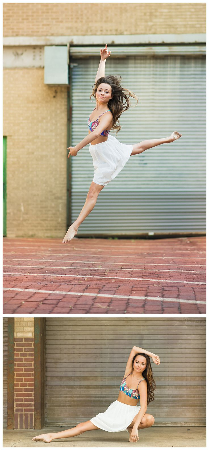 Senior portrait ideas, beautiful, senior portrait photography, senior images, senior session, contemporary dance ideas poses, white skirt, urban, jump