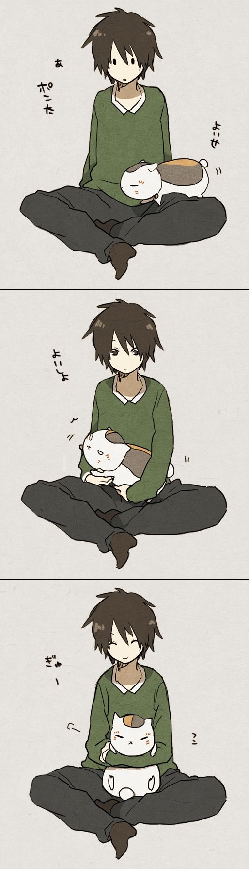 Tags: Anime, Natsume Yuujinchou, Pixiv, Nyanko-sensei, Tanuma Kaname
