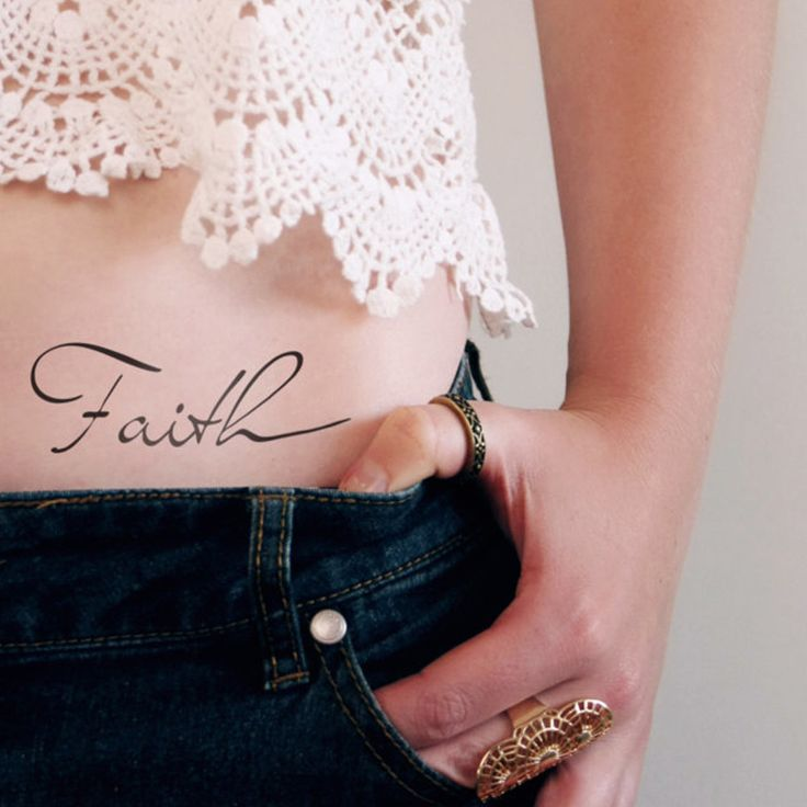 Temporary Faith tattoo (2 pieces)