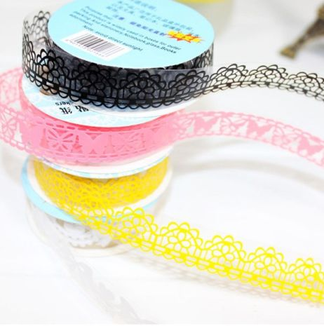 LACE TAPE R35 This decorative tape is ideal for adding a cute touch to gift wrap, for flagging important pages in your diary,