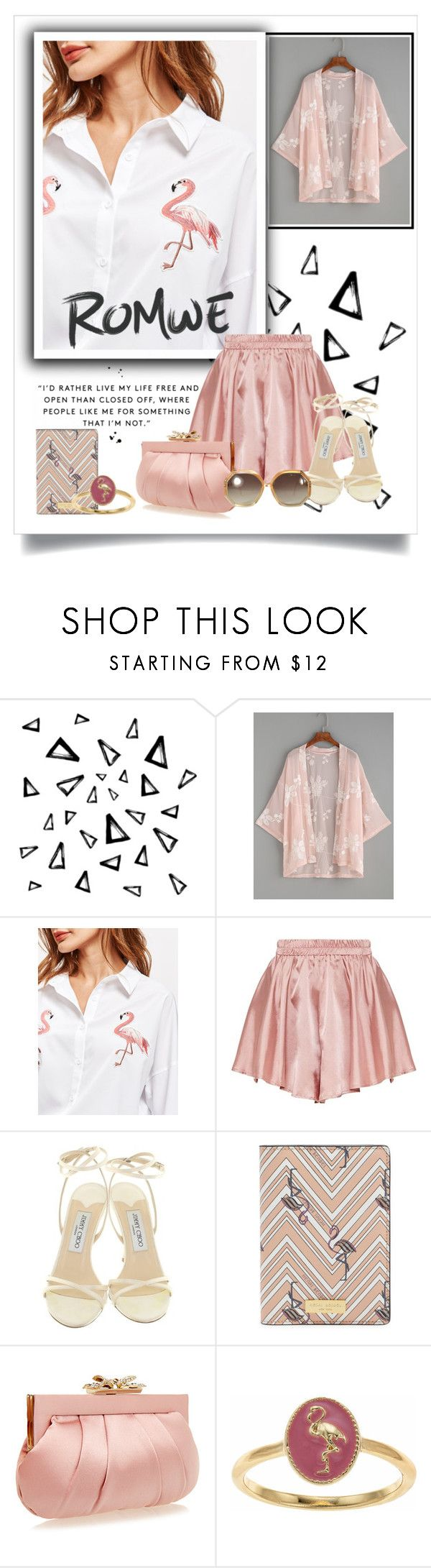 """RW458364"" by nixiey ❤ liked on Polyvore featuring Nika, Jimmy Choo, Henri Bendel, Wilbur & Gussie, LC Lauren Conrad and Ted Lapidus"